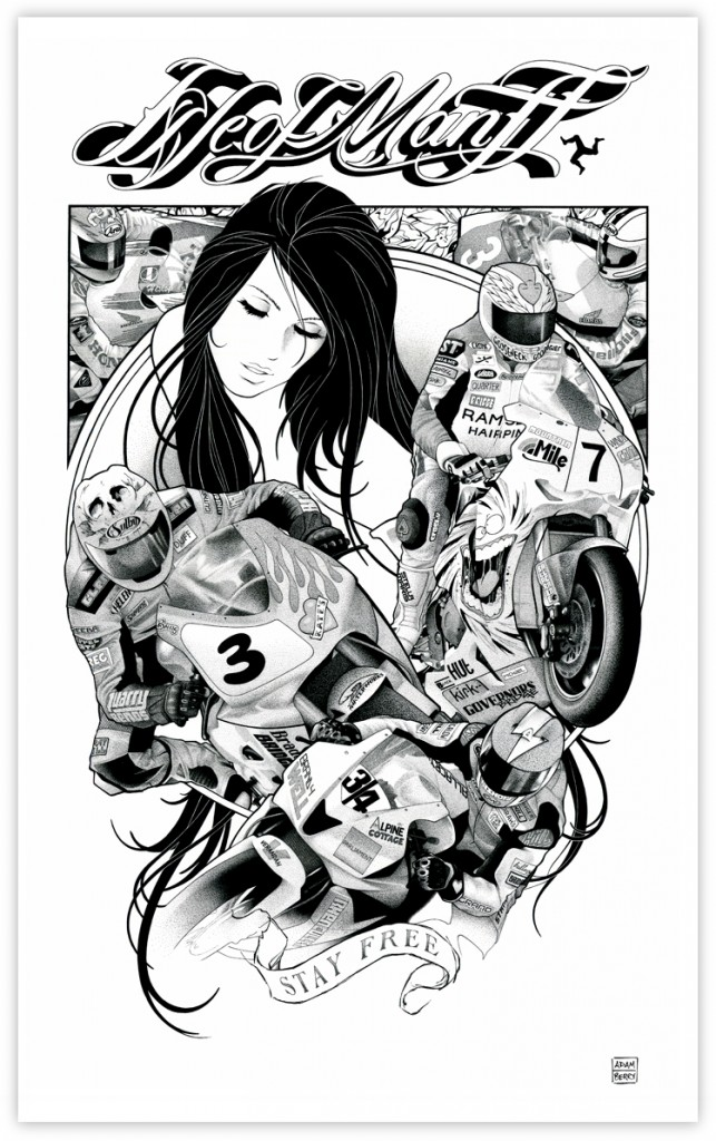 Isle of Man TT Stay Free girl motobikes