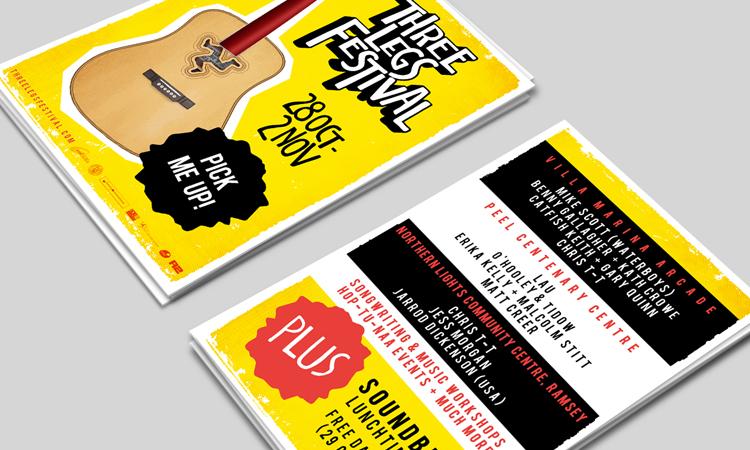 three legs festival postcards
