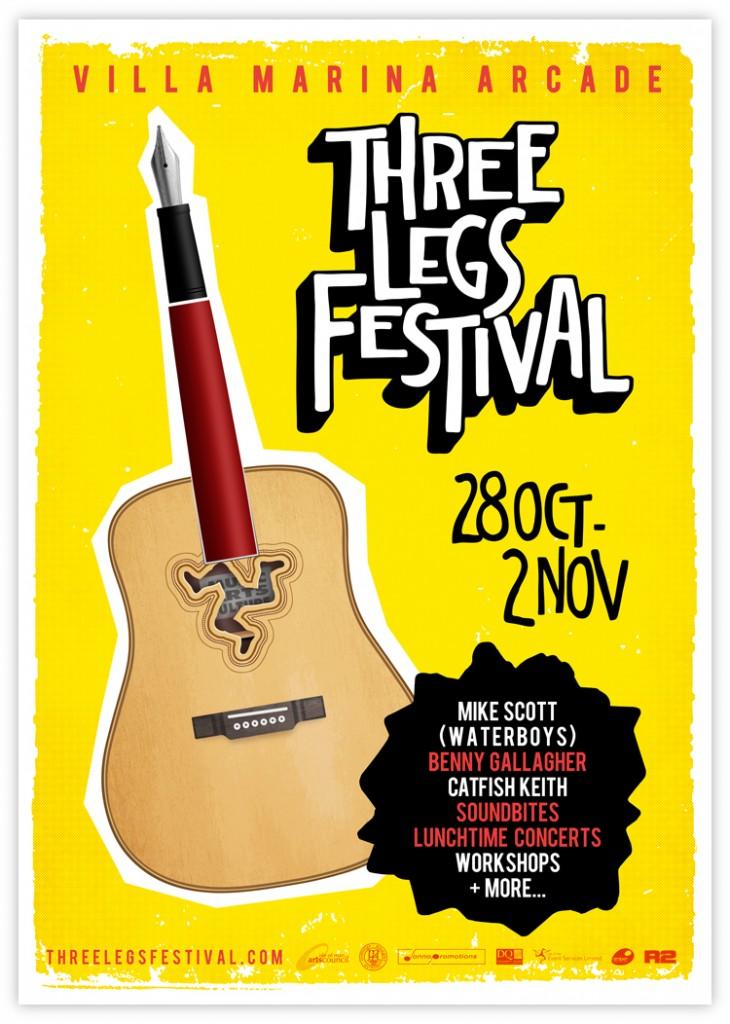 three legs festival poster