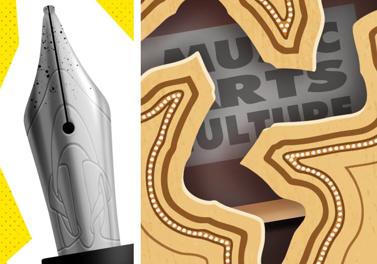 fountain pen nib interlacing engraved guitar music arts culture