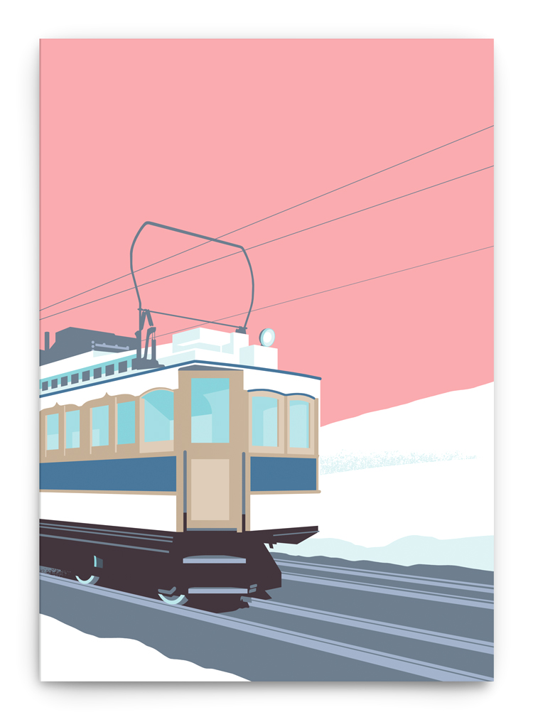 electric tram winter