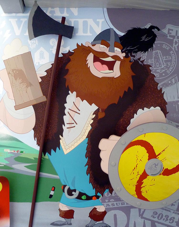 manx mural viking