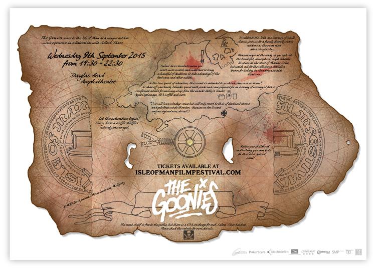 the Goonies treasure map poster