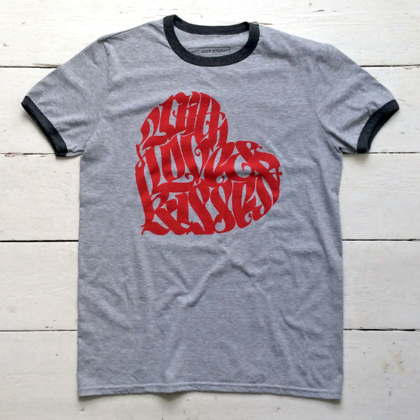 With Love & Kisses T-shirt – Light Grey